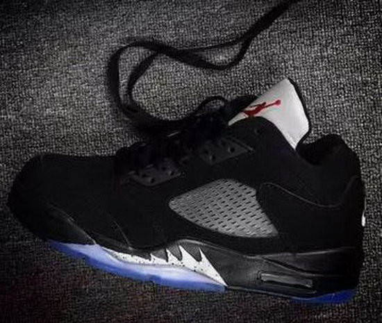 Air Jordan Retro 5 Low Black Silver Outlet Store