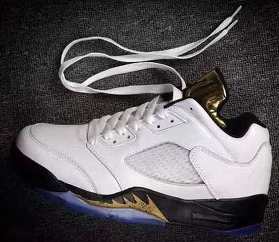 Air Jordan Retro 5 Low White Gold Czech