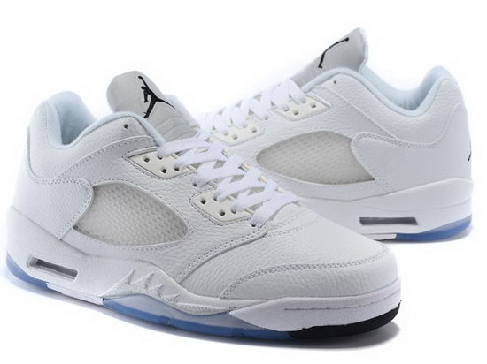 Air Jordan Retro 5 Low White Low Cost