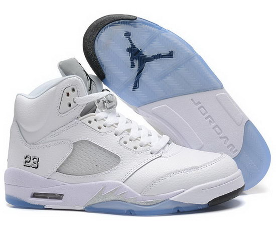 Air Jordan Retro 5 White On Sale