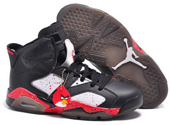 Air Jordan Retro 6 Black White Red Angry Bird Italy