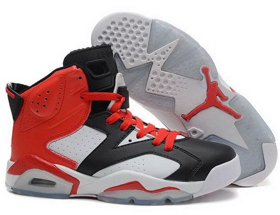 Air Jordan Retro 6 Red Black White Closeout
