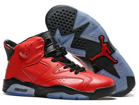 Air Jordan Retro 6 Red Black Czech