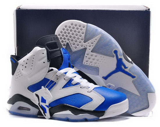 Air Jordan Retro 6 White Blue Black Discount Code