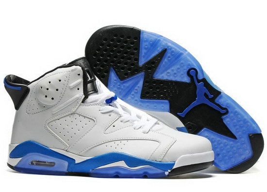 Air Jordan Retro 6 White Blue Outlet