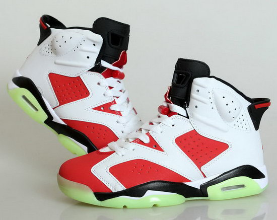 Air Jordan Retro 6 White Carmine Discount