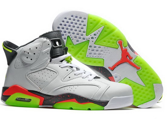 Air Jordan Retro 6 White Grey Green