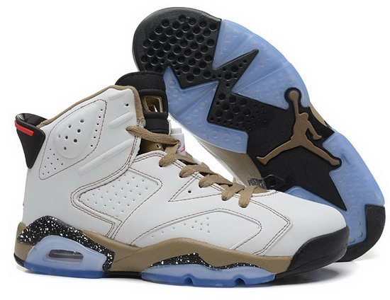Air Jordan Retro 6 White Yellow Black Hong Kong