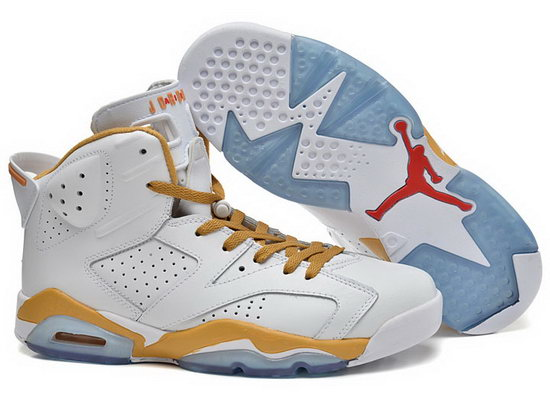 Air Jordan Retro 6 White Yellow France
