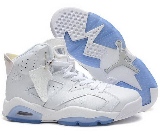 Air Jordan Retro 6 White Taiwan