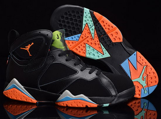 Air Jordan Retro 7 Black Orange Jade Reduced