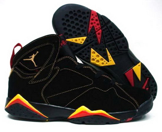 Air Jordan Retro 7 Black Red Yellow Hong Kong