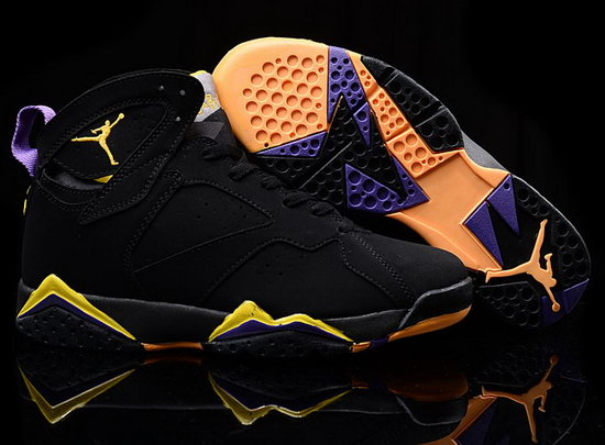 Air Jordan Retro 7 Black Yellow Taiwan