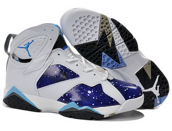 Air Jordan Retro 7 White Blue Jade Factory Outlet