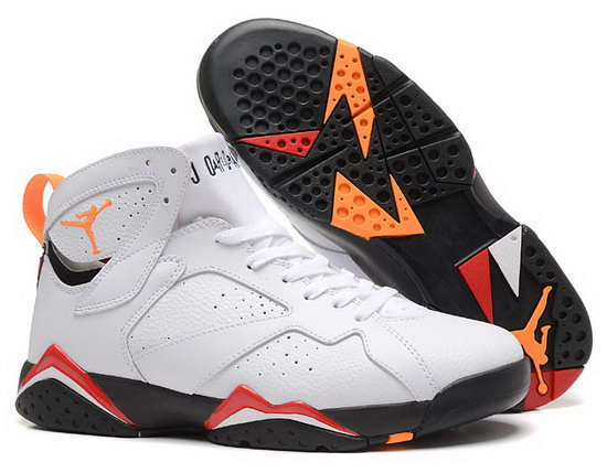 Air Jordan Retro 7 White Orange Black Low Price
