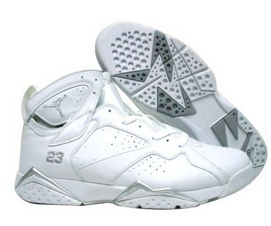Air Jordan Retro 7 White Silver Canada