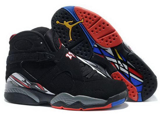 Air Jordan Retro 8 Black Grey Red Outlet
