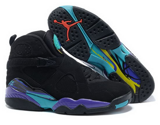 Air Jordan Retro 8 Black Purple Blue Discount