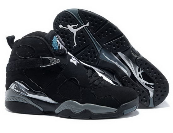 Air Jordan Retro 8 Black Silver Denmark
