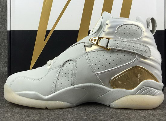 Air Jordan Retro 8 White Gold
