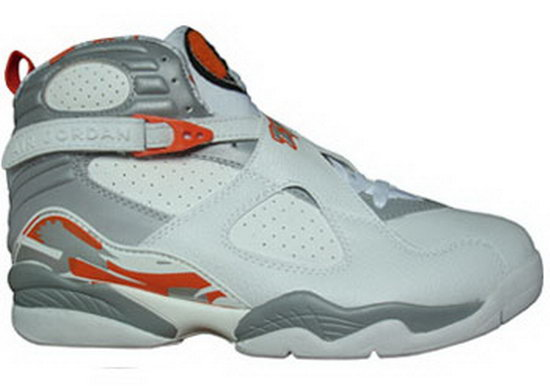 Air Jordan Retro 8 White Grey Orange Factory Store