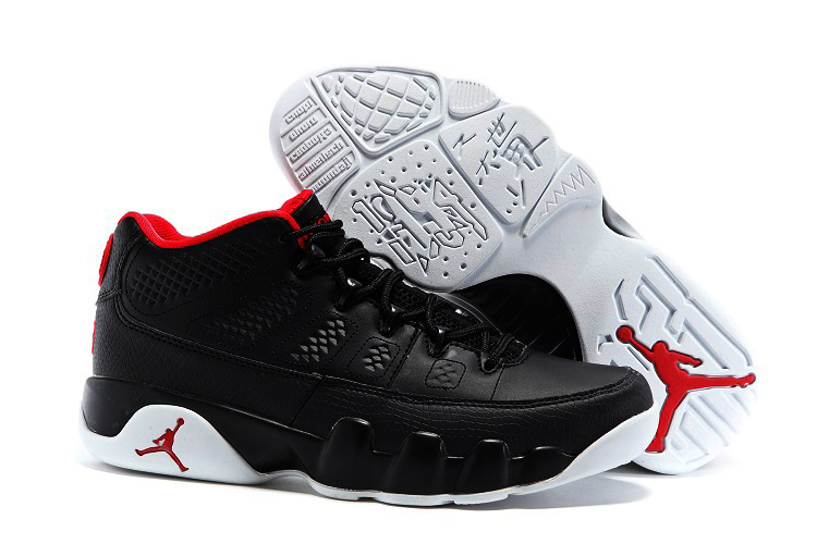Air Jordan Retro 9 Low Mens Black Red Switzerland
