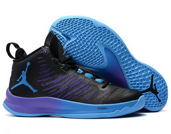 Air Jordan Super Fly V Black Purple Jade Outlet