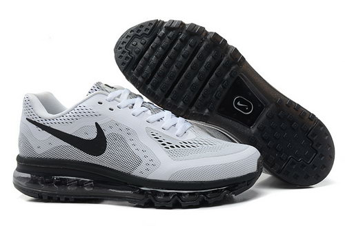 Air Max 2014 Mens Shoes White Black Outlet Store