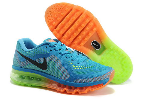 Air Max 2014 Womens Sky Blue Orange Green Discount