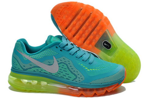 Air Max 2014 Womens Water Blue Orange Green Denmark