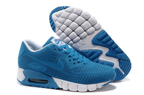 Air Max 90 Current Moire Women Blue White Running Shoes New Zealand