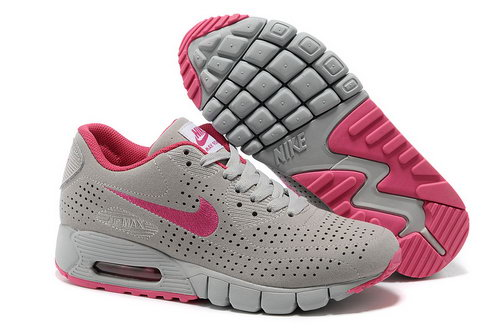 Air Max 90 Current Moire Women Gray Pink Running Shoes Factory