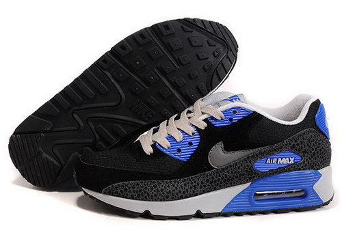 Air Max 90 Premium Em Mens Shoes Black Blue Silver Portugal