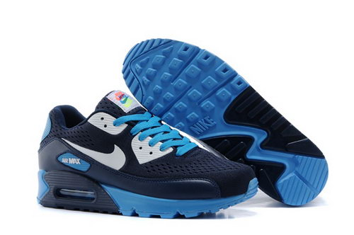 Air Max 90 Premium Em Mens Shoes Black Silver Blue Special Japan