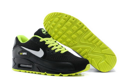 Air Max 90 Premium Em Mens Shoes Black Silver Green Special Usa