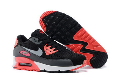 Air Max 90 Premium Em Mens Shoes Black Silver Orange Special Promo Code