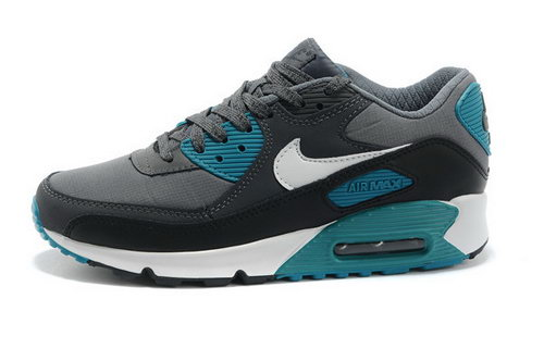 Air Max 90 Premium Em Mens Shoes Gray Black White Closeout