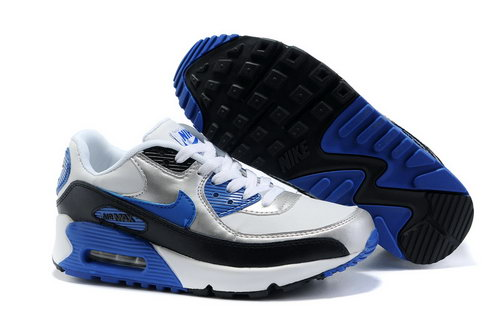 Air Max 90 Womens White Black Blue Portugal