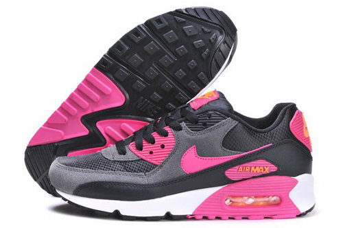 Air Max 90 Womenss Shoes Black Red Cheap