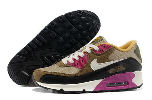 new styles 61bce 26638 Air Max 90 Womenss Shoes Brown Black White Outlet