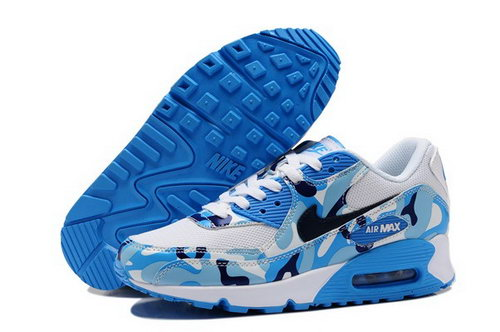 Air Max 90 Womenss Shoes Flower Blue White Australia