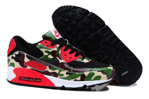 Air Max 90 Womenss Shoes Flower Camo Green Clearance