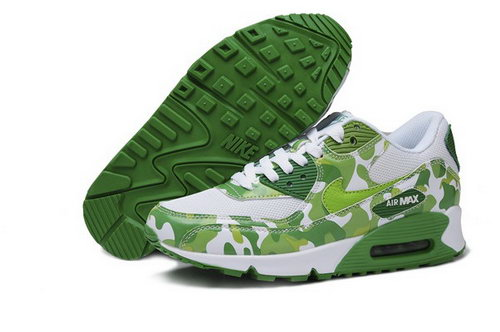 Air Max 90 Womenss Shoes Flower Green White Korea