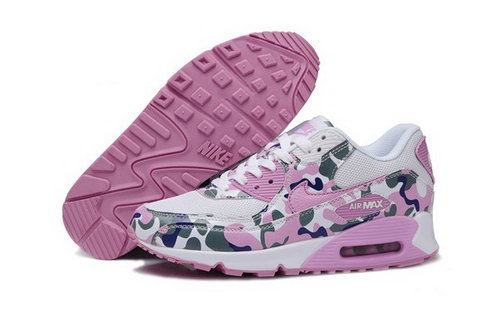 Air Max 90 Womenss Shoes Flower Pink White Closeout
