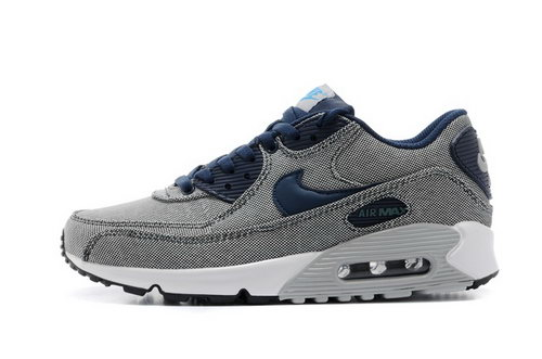 Air Max 90 Womenss Shoes Gray Black Blue Hot On Sale Outlet Online