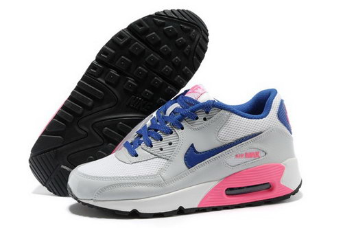 Air Max 90 Womenss Shoes Gray Blue China