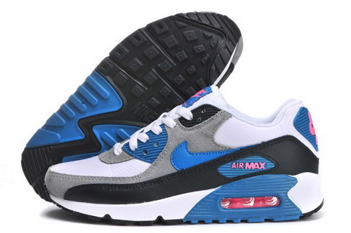 Air Max 90 Womenss Shoes Light Gray Blue Black Greece