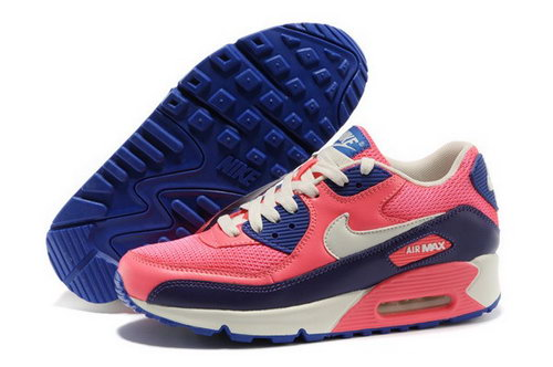 Air Max 90 Womenss Shoes Red Blue White Online