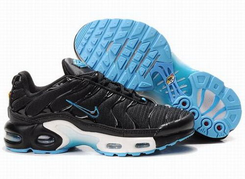 Black White Blue Nike Air Max Tn Womens Running Shoe Low Cost