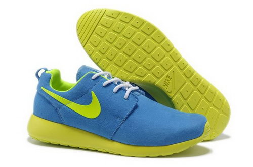 For Sale Nike Roshe Mens Running Shoes Wool Skin Online Blue Yellow Portugal